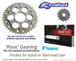 RACE GEARING: Renthal Sprockets and GOLD Tsubaki Sigma X-Ring Chain - Ducati 848 (2008-2012)